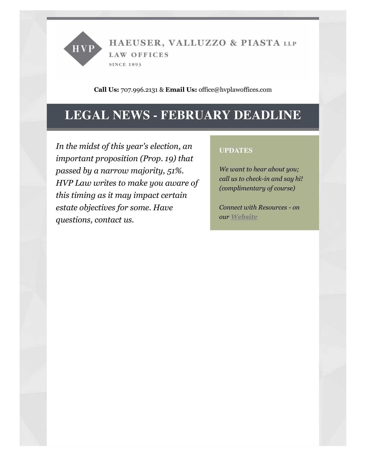 Prop 19 newsletter